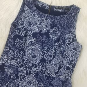 Zara Blue fitted dress size Large